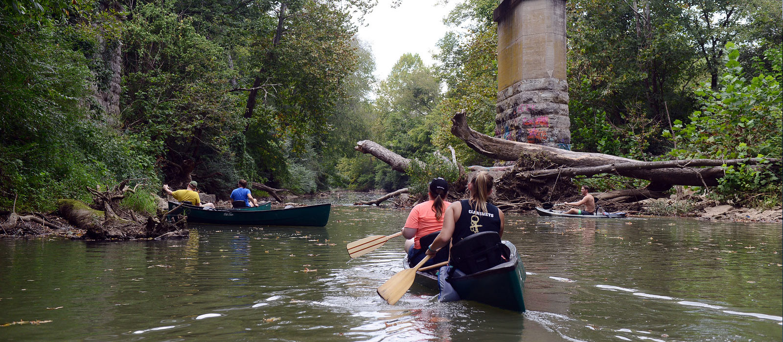 Students Participate in Community Clean-Up Effort via Canoes