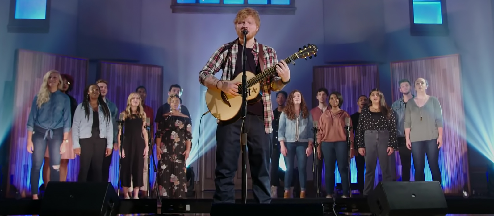 Music Students Sing Background Vocals for Ed Sheeran, Elvis Tribute on NBC