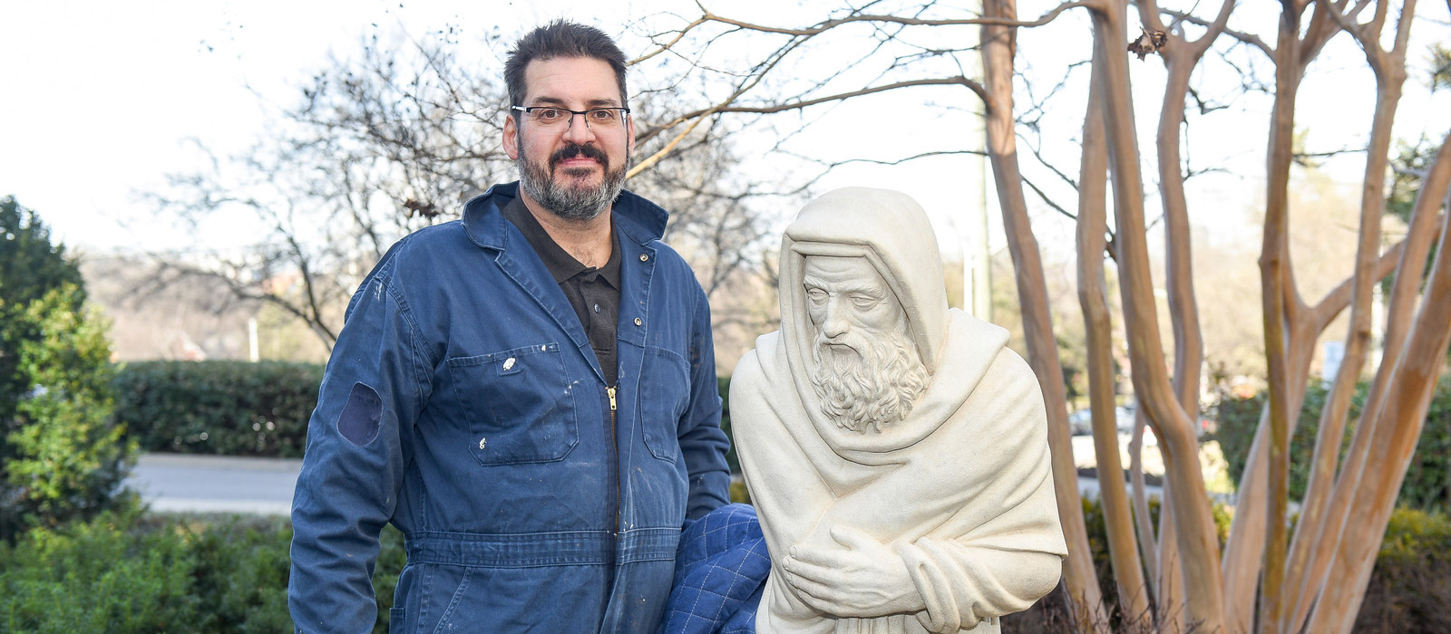 Local Sculptor Completes 11-Year Process of Restoring Historic Campus Statues