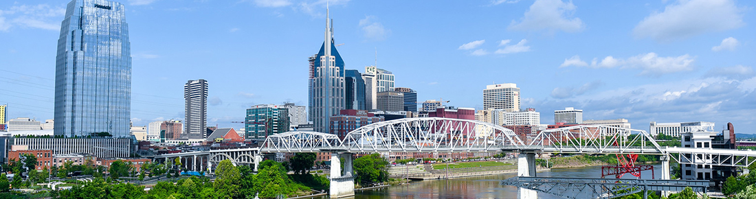 Nashville Skyline from across the Cumberland River